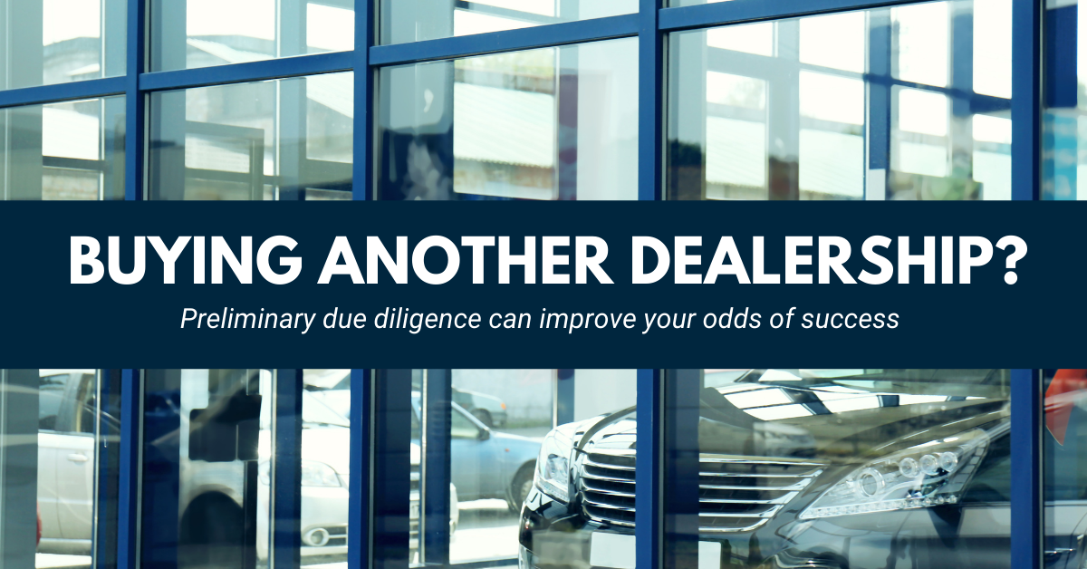 Buying Another Dealership?